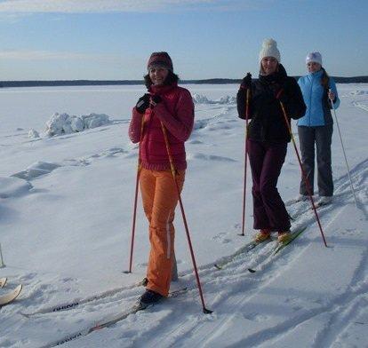 Лыжи с насечкой для прогулок